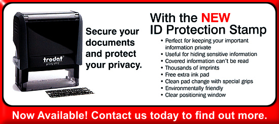 ID Protection Stamps now available.
