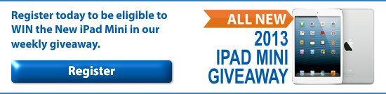 Register today to enter the New iPad Mini Giveaway!