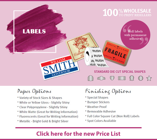 Labels Price List