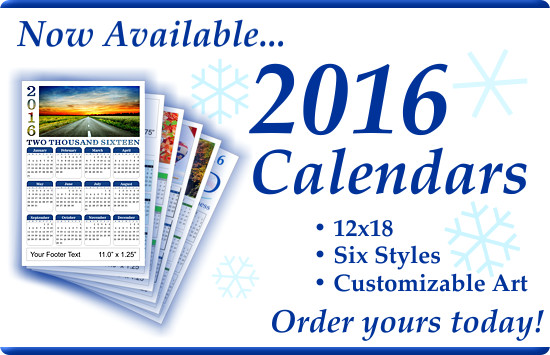 New 2016 Full Color Calendars are now available.
